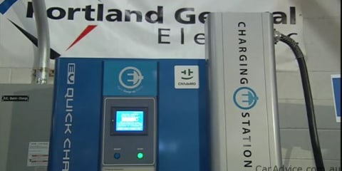 Portland General Electric opens America's first EV quick-charge station