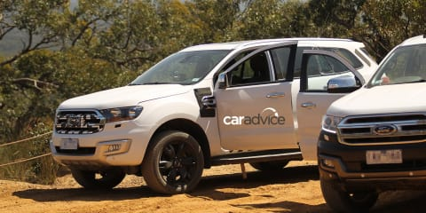 2015 Ford Everest spied off-road in readiness for production