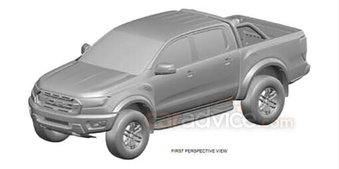 Ford Ranger Raptor design patent confirms North American launch