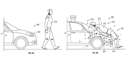 Google patents sticky bonnet that protects pedestrians
