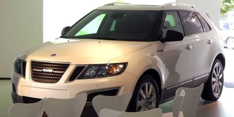 Saab 9-4X pre-production model spy shot