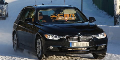 BMW 3-Series Touring almost fully uncovered