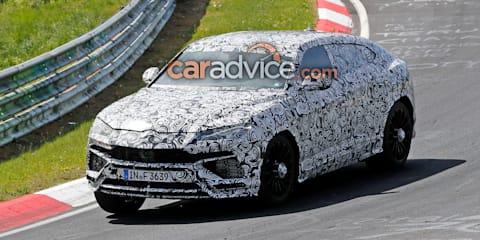 2018 Lamborghini Urus spied on the Nurburgring