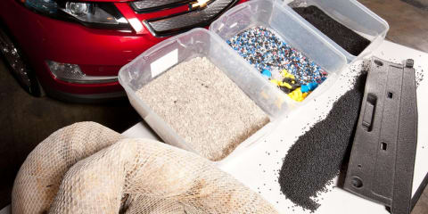 Chevrolet Volt recycling Gulf of Mexico oil spill components
