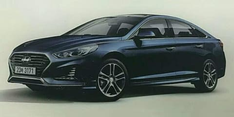 2018 Hyundai Sonata facelift leaked