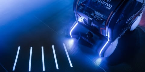 Jaguar Land Rover using light projection for autonomous communication