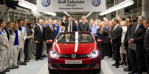 2011 Volkswagen Golf Cabriolet production begins
