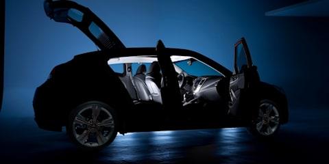 2011 Hyundai Veloster image reveals three passenger doors