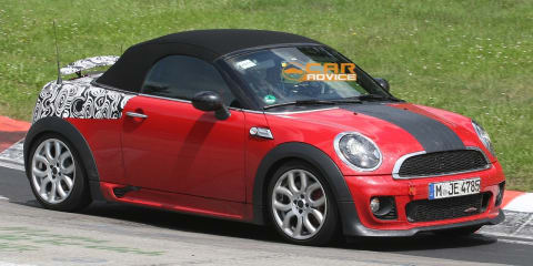 2012 MINI Roadster JCW spied on the Nurburgring
