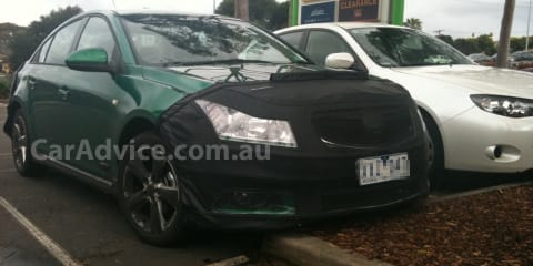 Locally produced Holden Cruze spied