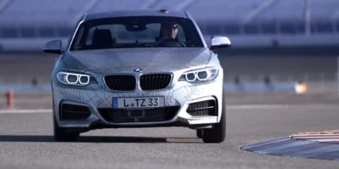 BMW M235i driverless drift video