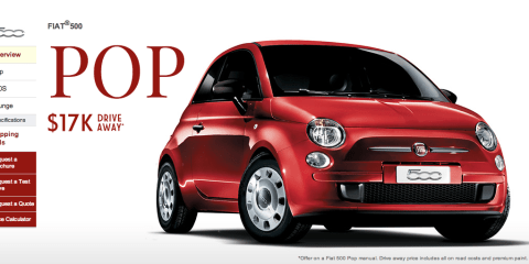 2014 Fiat 500 : Pop base model now $17,000 driveaway