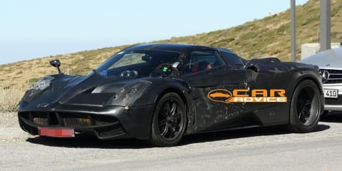 Pagani C9 spy shots and engine details