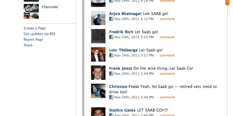 'Let Saab go': Occupy movement hits GM's Facebook page