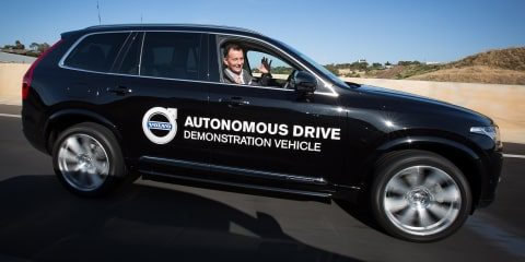 Volvo XC90 goes hands-free for Australian Driverless Vehicle Initiative in Adelaide