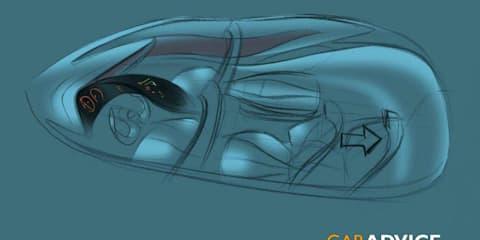 Mazda city car concept official sketches