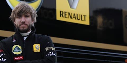 Nick Heidfeld fills Robert Kubica's Lotus Renault F1 seat