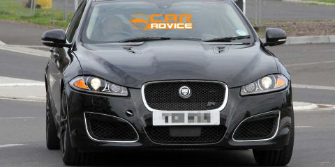Jaguar XFR-S Spy Photos