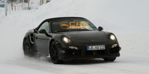 Porsche 911 Turbo Cabriolet spy shots
