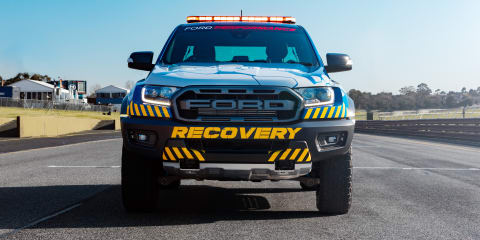 Ford Ranger Raptor debuts in Supercars recovery trim