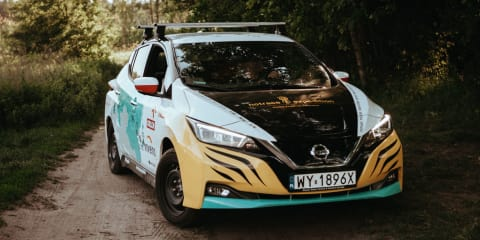 Nissan Leaf driven 16,000km from Poland to Japan