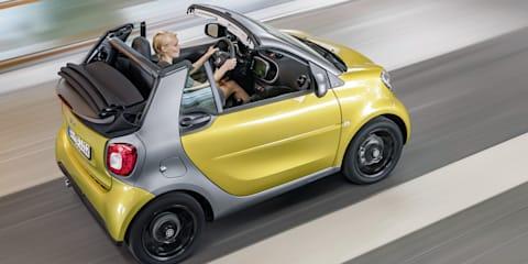 2016 Smart Fortwo Cabrio revealed for Frankfurt motor show