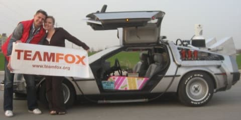 Back to the Future DeLorean DMC-12 replica