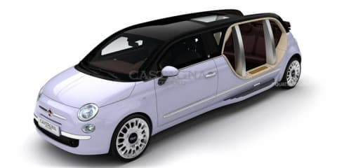 There's nothing bambino about these Fiat 500 limousines