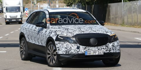 2020 Mercedes-Benz EQC spied with less camouflage, interior photographed too