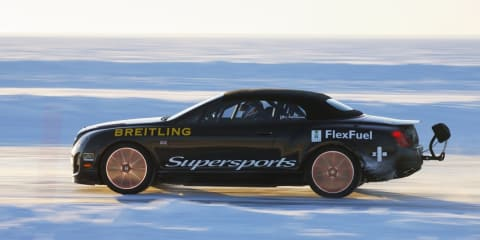 Bentley Supersports smashes world speed record on sheet ice