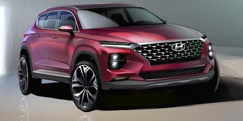 2018 Hyundai Santa Fe sketched