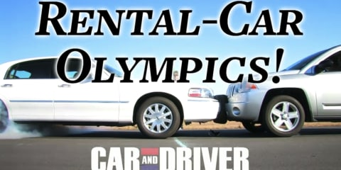 Video: Rental car olympics by Car and Driver