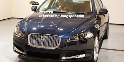 2012 Jaguar XF facelift sneak peek before New York