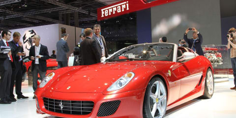 Ferrari at 2010 Paris Motorshow (Video)