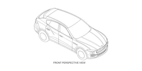 Maserati Levante design revealed via patent drawings