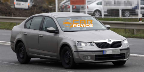 2013 Skoda Octavia snapped in light camouflage