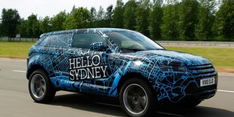 Range Rover Evoque undergoes final testing in big cities excluding Sydney