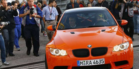 Valentino Rossi takes BMW M3 GTS for first steer