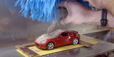 Video: Nissan uses shrunken carwash for paint testing