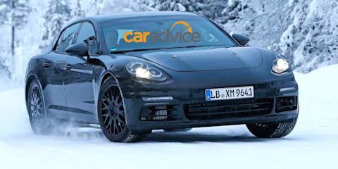 2016 Porsche Panamera : Sleeker second-gen sedan spied in the snow