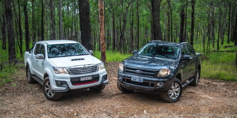 Ford Ranger Wildtrak v Toyota HiLux Black Edition : Comparison review