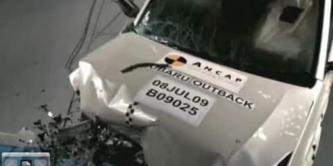 Subaru Outback ANCAP crash test video