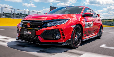 Honda Civic Type R sets Hungaroring lap record - video