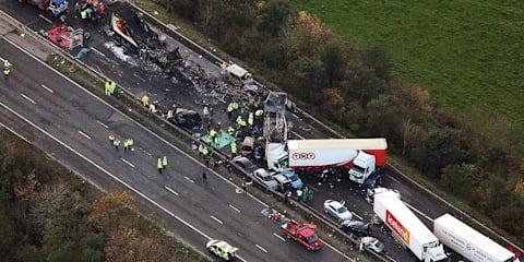 Massive 34-car crash kills 7 in the UK