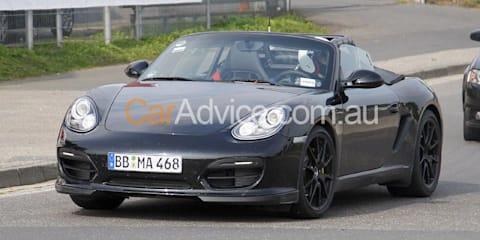 Porsche Boxster R spy pics