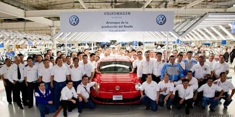 2012 Volkswagen Beetle production commences, Australian deliveries late next year