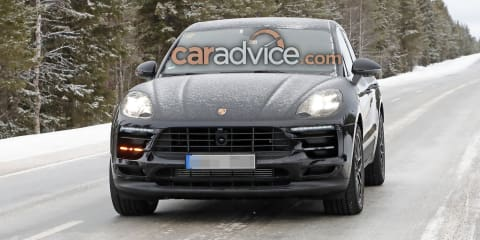 2018 Porsche Macan facelift spied