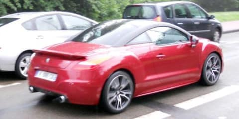 Peugeot RCZ R spotted undisguised