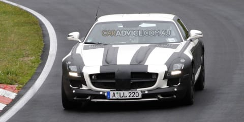 Spied: 2011 Mercedes-AMG SLS Gullwing