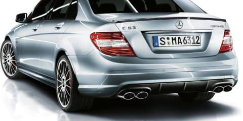 Mercedes-Benz C 63 AMG with a shot of SLS